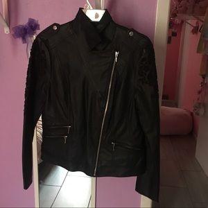 INC international concepts faux leather jacket M